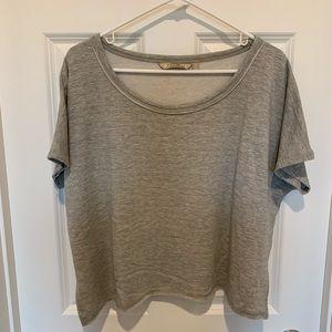 New! Athleta crop short sleeve sweatshirt
